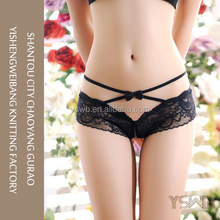 Hot selling women black hot sexy mature lace G-string