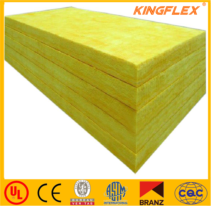 Kingflex top quality cheap price fiber glass wool with aluminum foil faced insulation sheet