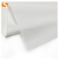 Top Grade Polyester Spandex White Crepe Knitted Fabric