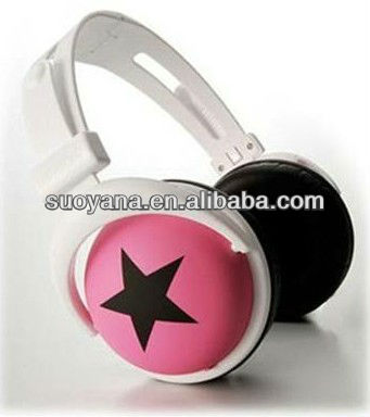 2013 newly design colorful stereo 40mm driver unit headphones