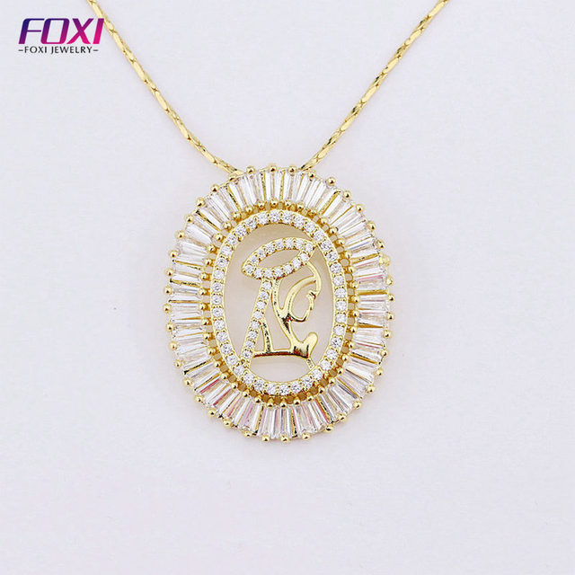 Online shipping china cubic zirconia 18k gold jewelry necklace