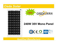 240w solar panels made of 156 solar cell poly