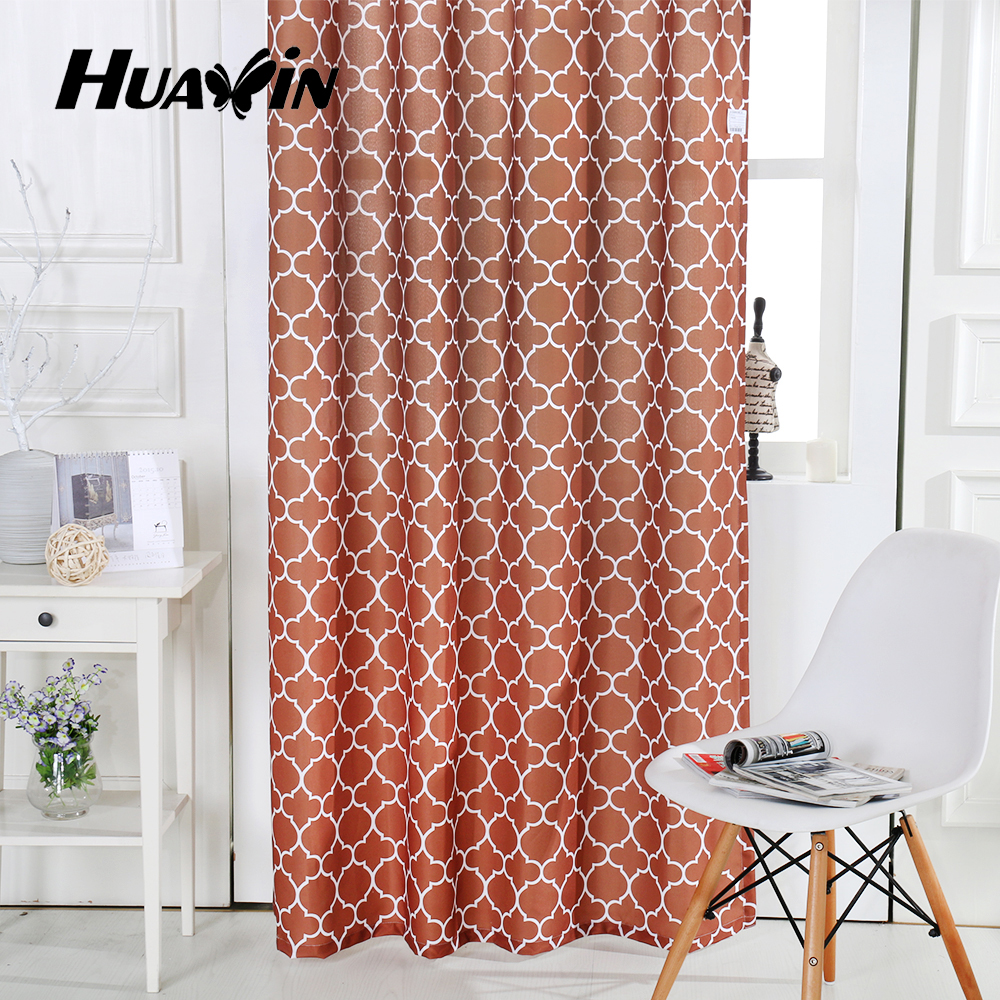 100%polyester red blackout oxford cloth printed curtain for hotel