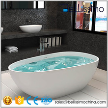 Best Selling Product 1500mm Red Small bath tub Solid Surface Used Bathtub BS-8608S