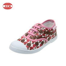 Good sale wholesale popular design girls footwear kids running canvas shoes