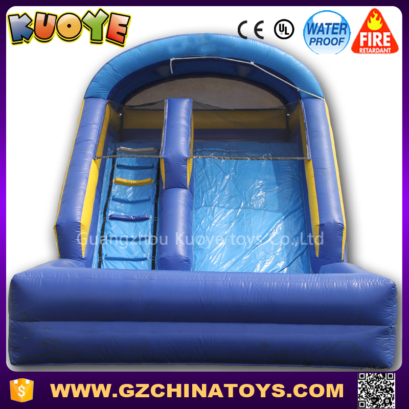 commercially outdoor playground inflatable wet and dry slide