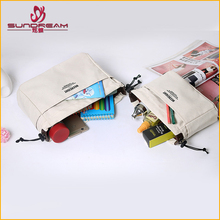 Manufacture of custom taobao hot sale canvas personalized cosmetic The large capacity canvas cosmetic bag