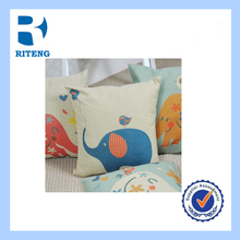 cheap home decoration 100% polyester filling panel printing Good quality stuffed cute blue elephant car cushion