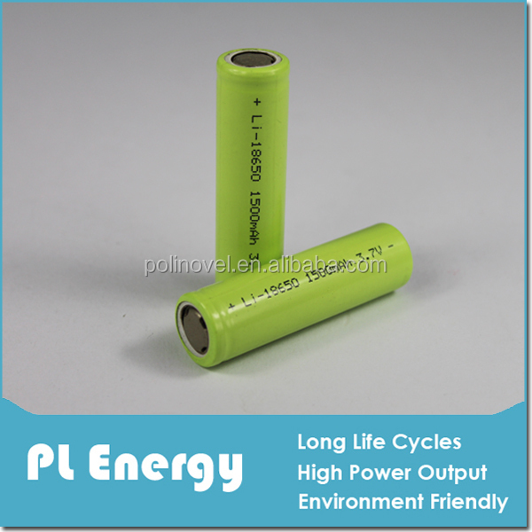 3.7v 1500mah lithium-ion polymer battery cell 18650