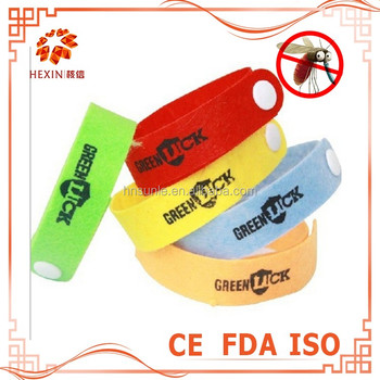 Safety 100% natural citronella mosquito repellent bracelet deet with free samples