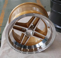 13x7.0 small size alloy wheel rim for car with Gold /black