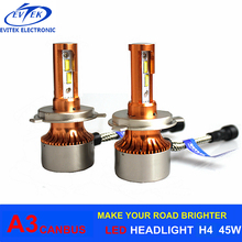 Auto Lighting 90W High Power A3 Canbus Car Led Headlight H4 H7 H11 H1 H3 9005 9006 H13 Auto Led Headlight Bulbs