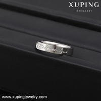 13973 Xuping fahsion letter ring, stainless steel finger ring design, women ring italian jewelry