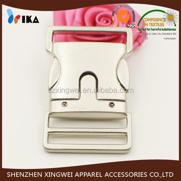 metal zinc alloy adjustable side release buckle for bag