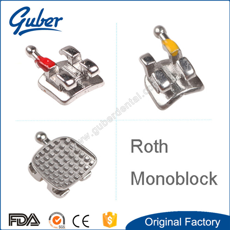 New promotion orthodontic roth monoblock bracket no hook for
