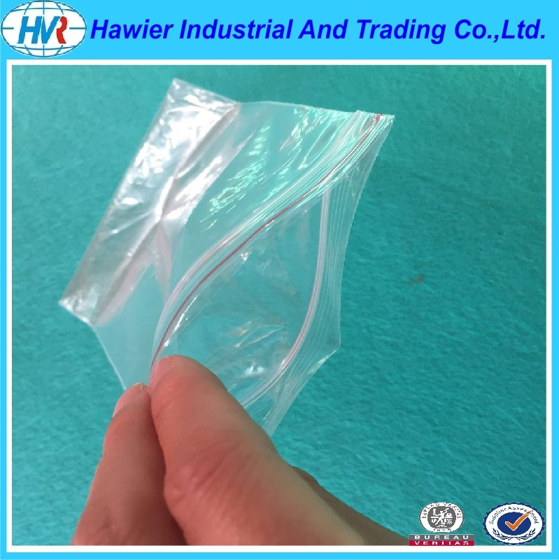 Alibaba China custom zip poly food graded bag manufacturer hawier