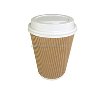Wholesale Kraft Triple Ripple Paper Wall Disposable Tea Coffee Hot Drinks Cups