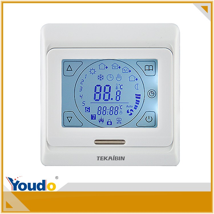 [TEKAIBIN] E91 air condition metal parts air condition vents auto thermostat touch-screen FCU thermostat white thermostat