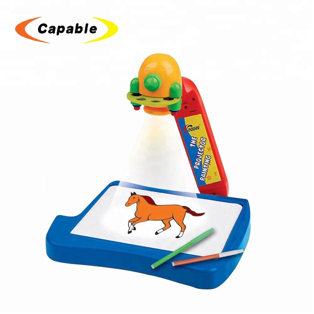 alibaba china market kid writing board painting projector toy with more funny