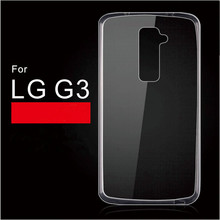 Whole Sale Soft Transparent TPU phone case for LG G3 Soft case Protect phone camera