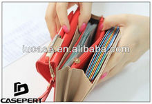 For Samsung Galaxy Note3 6.3inch Envelop Wallet Cosmetic Case/Bag With Passport Holder Pocket