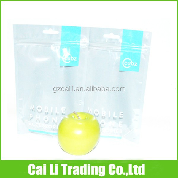 mobile phone accessories packing clear resealable cello bags