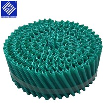 Counter flow or cross flow Cooling tower filler Green round pvc fills cooling tower plastic sheet