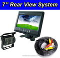 Cheap price front and reverse camera kit with car monitor and 4 pin extension