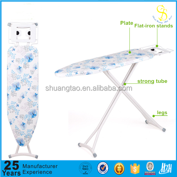 Hotel steel mesh top foldable iron board, metal adjustable ironing board, ironing board for household(factory price)