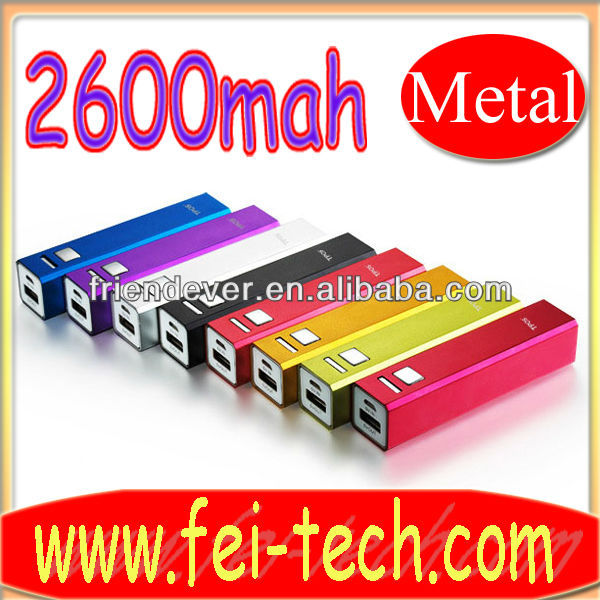 2600mah portable emergency mobile phone charger