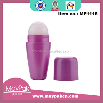 Hot sale Cosmetic Package Colorful 75ml Plastic perfume Roll On Bottle