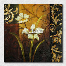 Hot sell hand painted canvas picture flower
