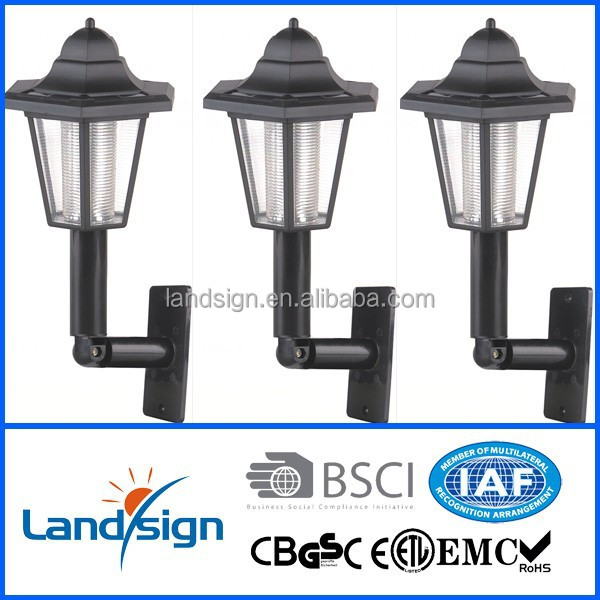 Cixi Landsign outdoor wall lamps series solar lantern type XLTD-288 outdoor wall mounted led light