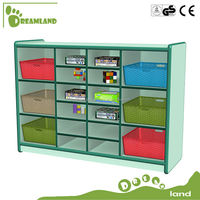 Multifunction and Dexterous18 copartments toy storage cabinet