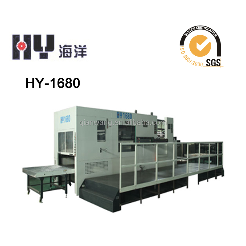 Cardboard die cutting macine(HY-1680) / cnc die cutting machine / Taiwan imported decollator