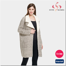 Cardigan invernale in pile fodera bel <span class=keywords><strong>cappotto</strong></span> per le donne e le signore