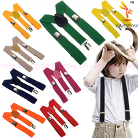 New Children Kids Boy Girls Clip-on Suspenders Elastic Adjustable Braces
