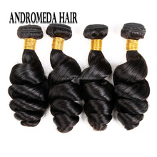 Brazilian Hair Weave Bundles Loose Wave Human Hair Weaving Extensions Natural Black Color Remy Hair