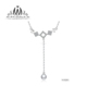 Simple 925 Sterling Silver Necklace Jewelry