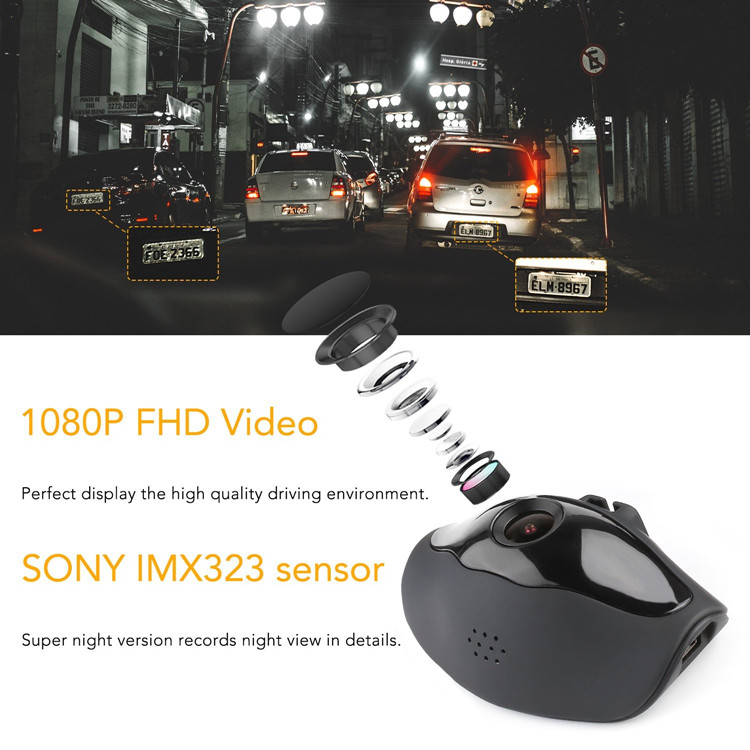 2017 Amazon Hot selling Novatek 96658 Sony IMX323 Car Dash Cam 1080P WIFI Car Camera