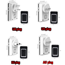 EU AU US UK plug high-end 433MHz long range wireless doorbell