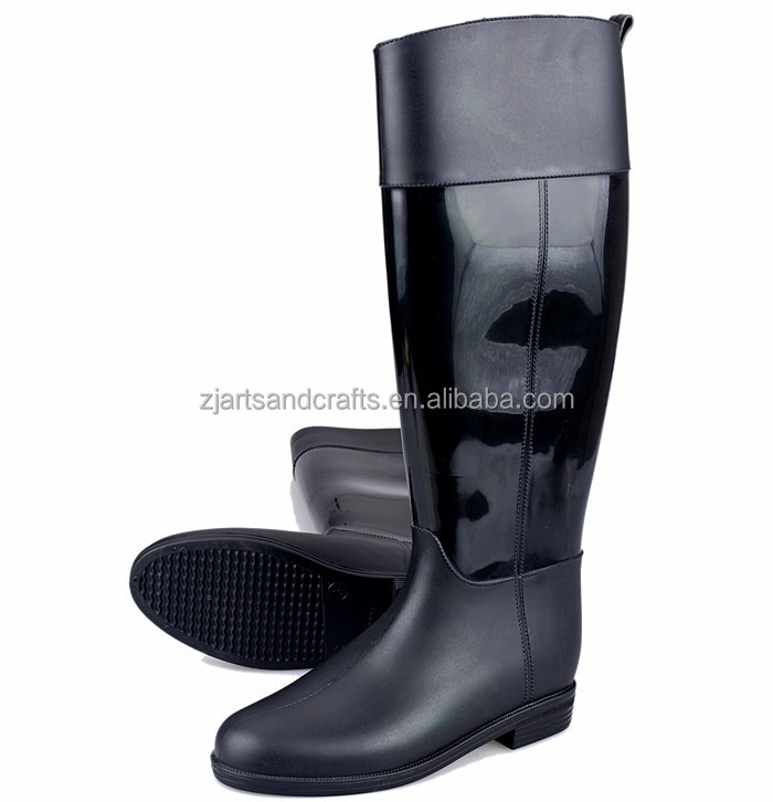Knee Fashion wholesale waterproof PVChorse riding boot for ladies