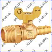 Brass Ball Valve With yellow Butterfly Handle For Gas LPG