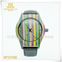 cheap watches mix color metal wooden fashion watch 2014