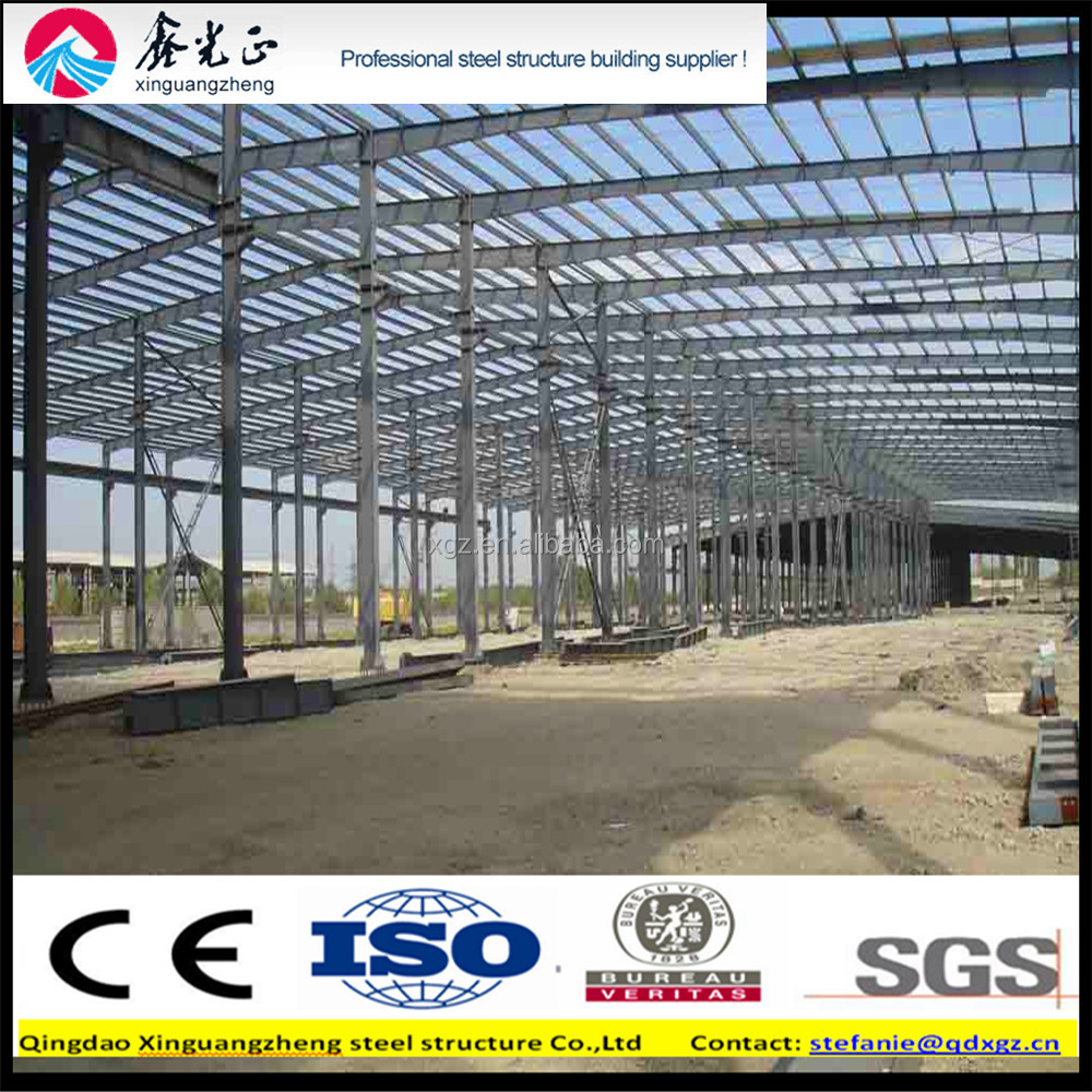 prefabricated manufactured steel structure material warehouse /workshop/building/hangar