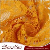 ChenMan Faithful Luxury heavy african yellow lace fabric