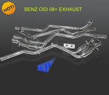 "FOR 08-12 MERCEDES BENZ AMG C63 6.3 V8 STAINLESS CATBACK EXHAUST MUFFLER 4"" TIP (Fits: 2008 C63 AMG)"