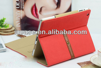 Stylish tablet case for iPad air 4 3 2 mini2, tablet cover with buckle, Premium PU tablet case OEM factory