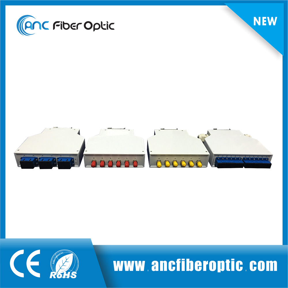 Plastic SC, LC, FC, ST Optical Terminal Box for DIN Rail Mount