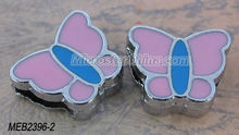 Cheap metal rhinestone slide charm butterfly in stock